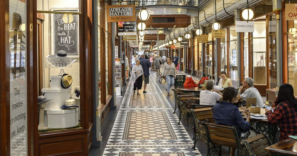 Adelaide Arcade in the third most liveable city in the world